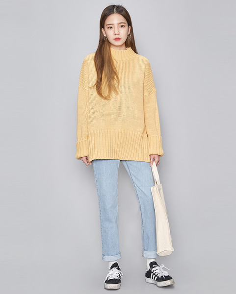 over fit slit spring knit (4 colors)