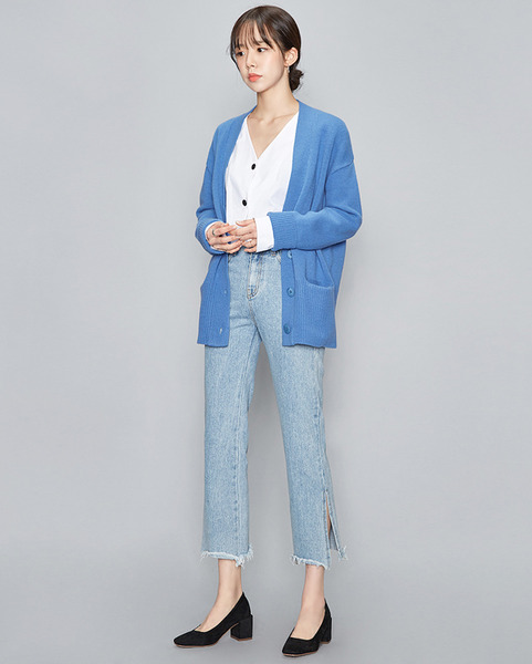 breeze button wool cardigan ( 4 colors)