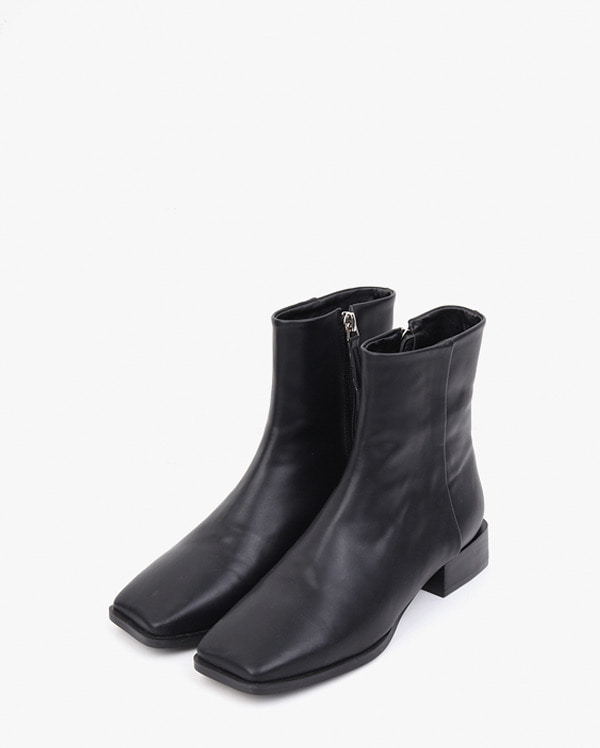square toe line ankle boots (230-250)